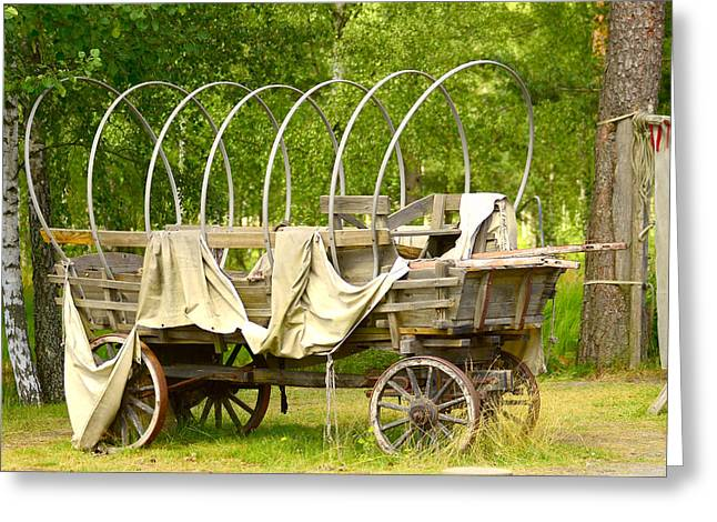 A Wagon Greeting Card