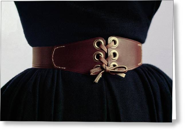 A Waist Cinched By A Leather Belt Greeting Card by Richard Rutledge