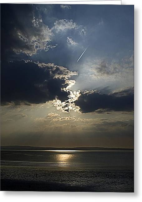 A Walk Along The Beach Greeting Card by Tony Reddington