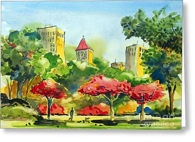 A Walk In City Park Greeting Card