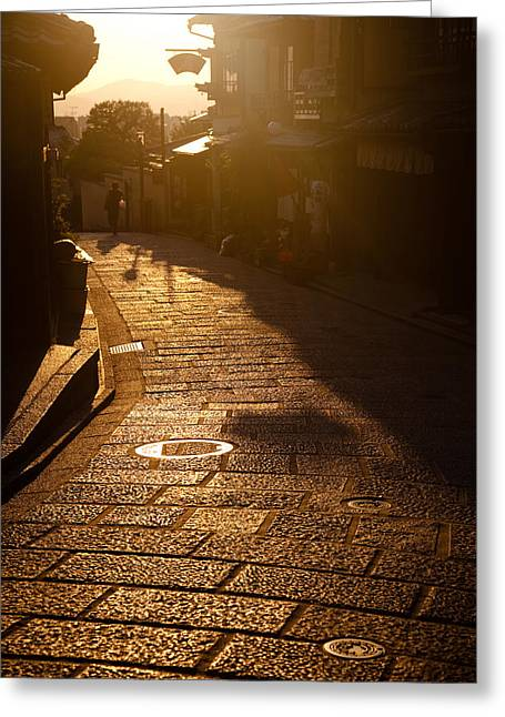 A Walk In Kyoto Greeting Card