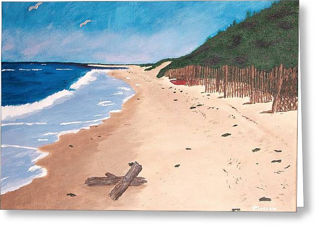 A Walk In Nantucket Greeting Card
