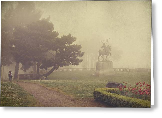 A Walk In The Fog Greeting Card by Laurie Search