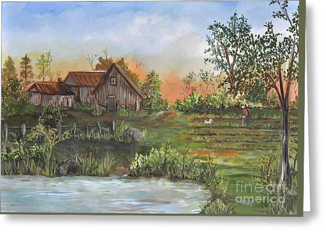 A Walk In The Garden Greeting Card by Reb Frost