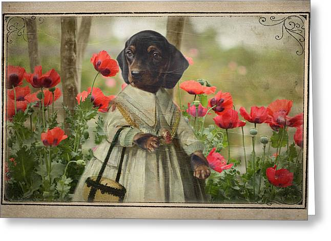 A Walk In The Garden Greeting Card by Terry Fleckney