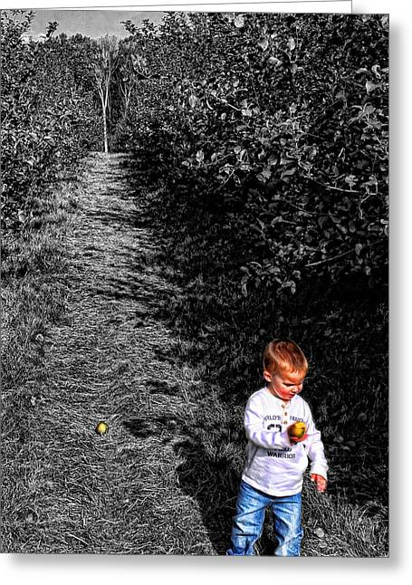 A Walk In The Orchard Greeting Card