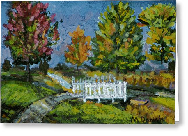 A Walk In The Park Greeting Card by Michael Daniels
