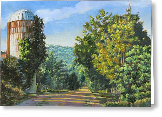 A Walk In Vermont Greeting Card by Dominique Amendola