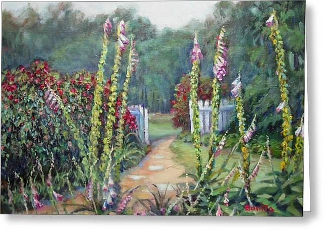 A Walk Into The Garden Greeting Card