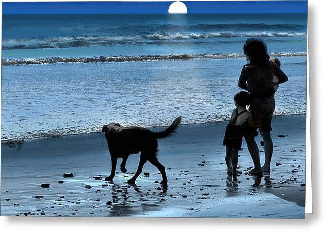 Greeting Card featuring the photograph A Walk On The Beach by Mike Flynn
