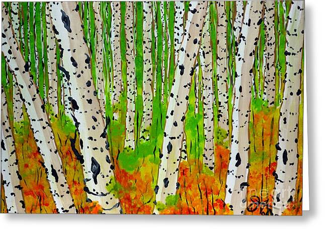 A Walk Though The Trees Greeting Card by Jackie Carpenter