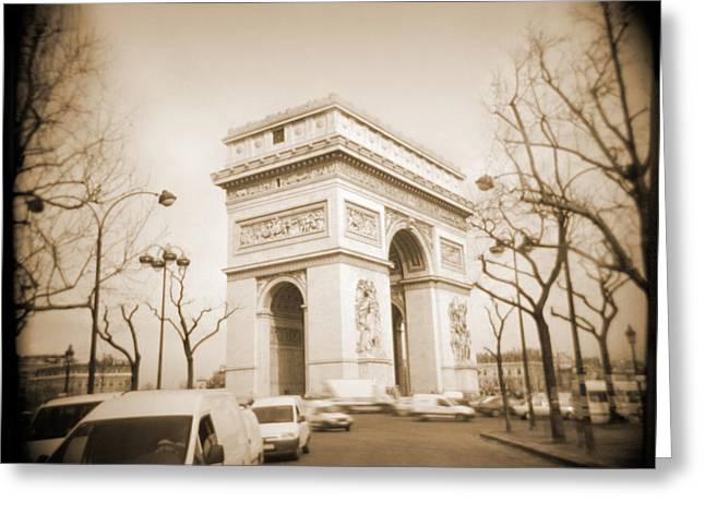 A Walk Through Paris 2 Greeting Card by Mike McGlothlen