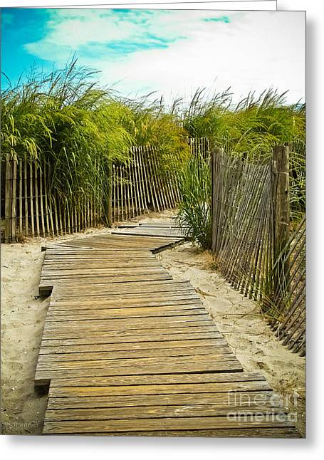 A Walk To The Beach Greeting Card by Colleen Kammerer