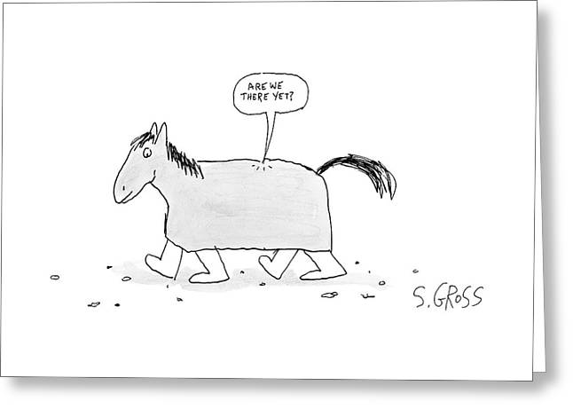 A Walking Trojan Horse -- Speech Bubble Greeting Card
