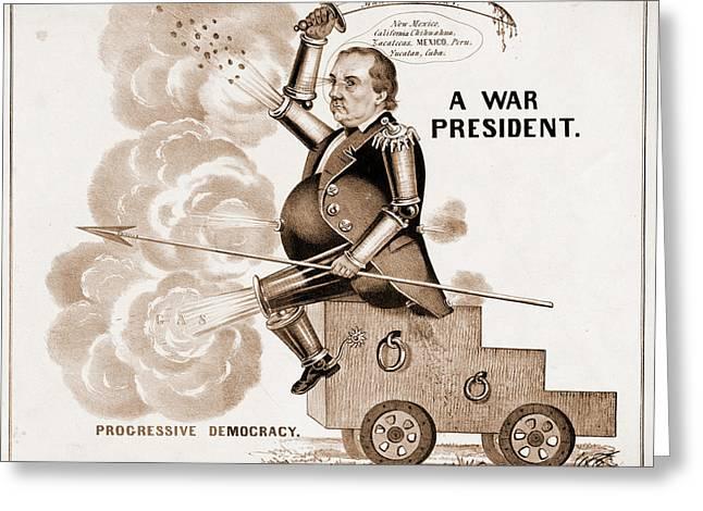 A War President. Progressive Democracy N. Currier Firm Greeting Card
