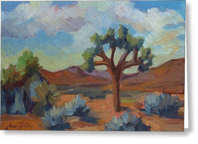 A Warm Morning At Joshua 1 Greeting Card by Diane McClary