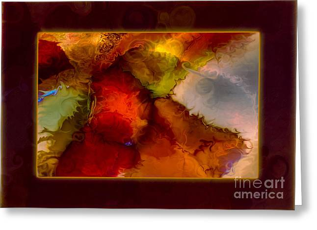 A Warrior Spirit Abstract Healing Art Greeting Card by Omaste Witkowski