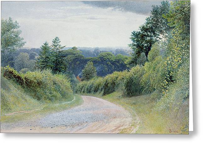 A Warwickshire Lane Greeting Card
