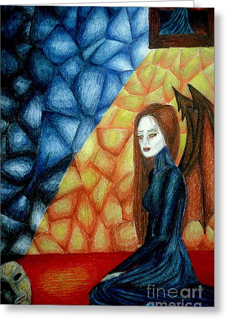 A Watcher's Tears Greeting Card by Coriander  Shea