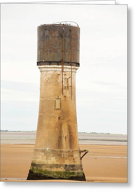 A Water Tower At Spurn Point Greeting Card by Ashley Cooper
