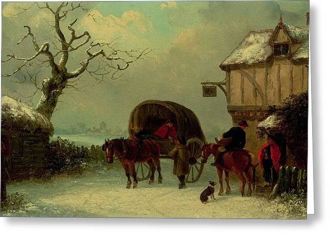 A Wayside Rest Greeting Card by Thomas Smythe