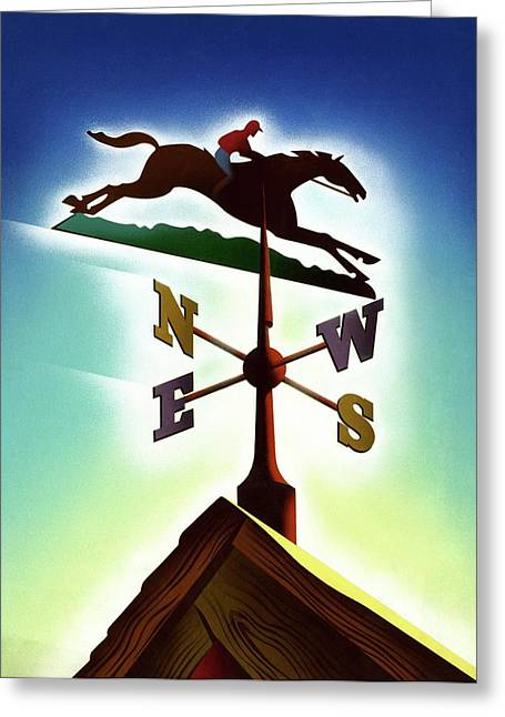 A Weather Vane Greeting Card by Joseph Binder