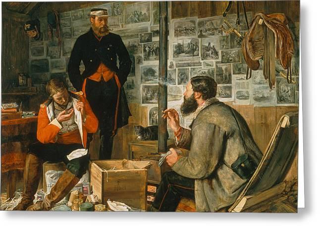 A Welcome Arrival, 1857 Greeting Card by John Dalbiac Luard