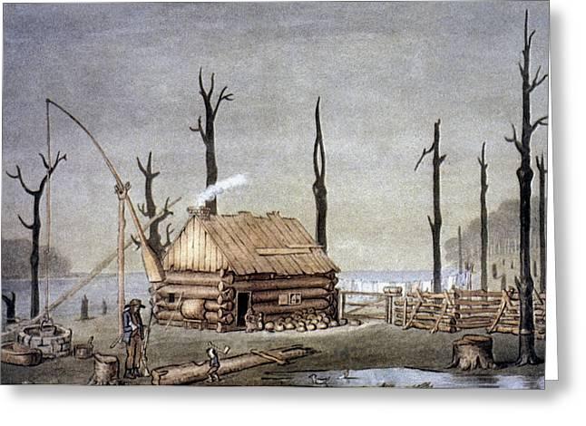A Western Farm Site, 1822 Greeting Card by Granger
