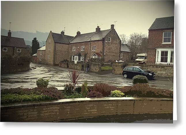 A Wet Afternoon In Little Eaton,  A Wet Afternoon In Little Greeting Card by Litz Collection