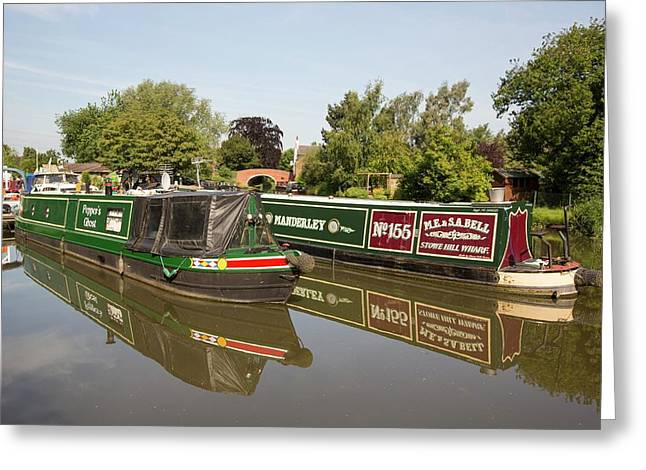 A Wharf In Barrow Upon Soar Greeting Card by Ashley Cooper