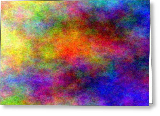 A Whirl Of Colors Greeting Card by Alejandro Mahias