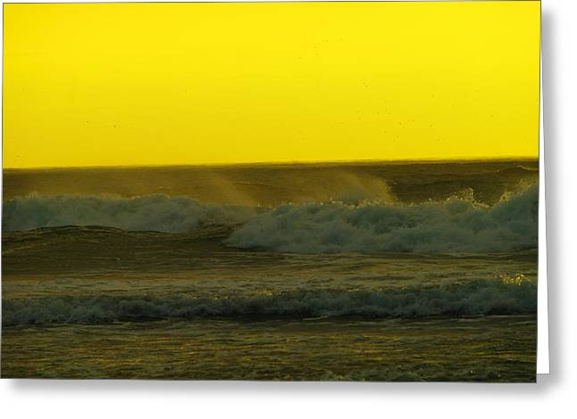A Whisp Of Wind On The Waves Greeting Card by Jeff Swan