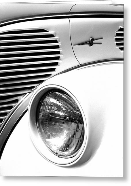 A White V8 Greeting Card by Paul W Faust -  Impressions of Light