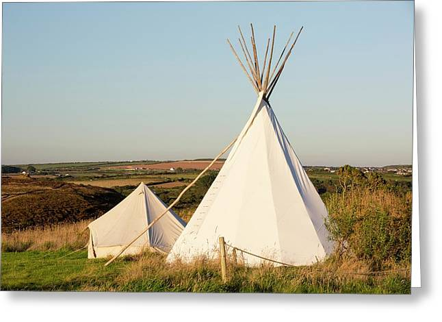 A Wigwam At Mount Pleasant Greeting Card by Ashley Cooper
