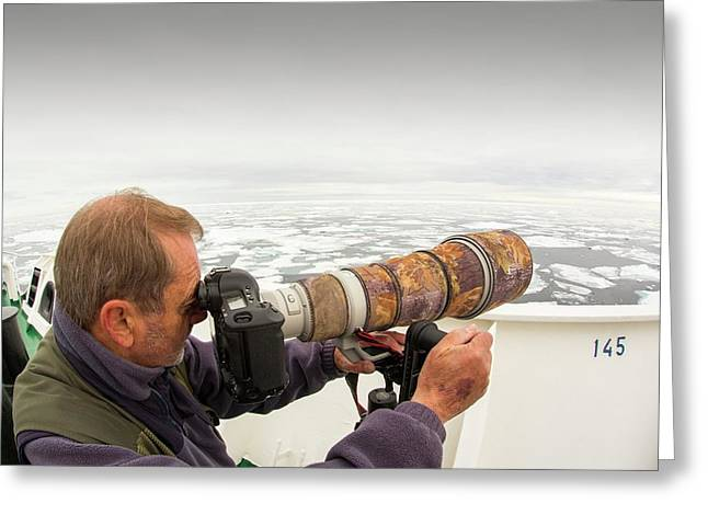 A Wildlife Photographer Greeting Card