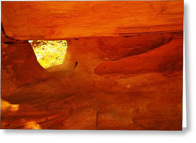 A Window In The Rock Greeting Card by Jeff Swan