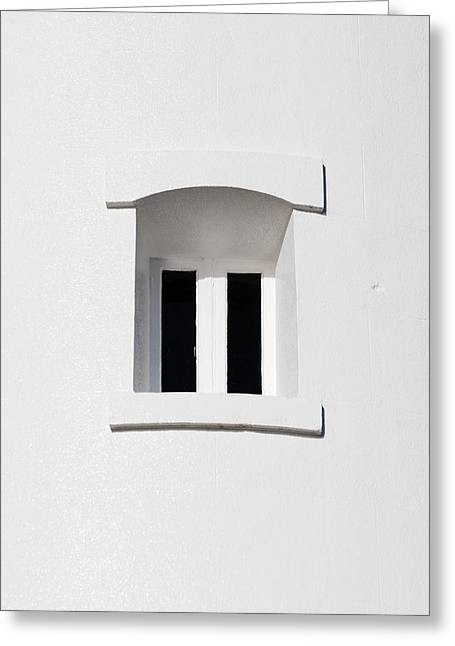 A Window In White Greeting Card