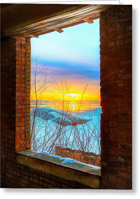 A Window To Lake Michigan  Greeting Card by Michael  Bennett