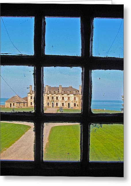 Greeting Card featuring the photograph A Window To The Past by Kathleen Scanlan