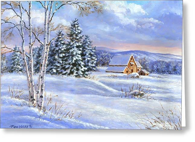 A Winter Afternoon Greeting Card