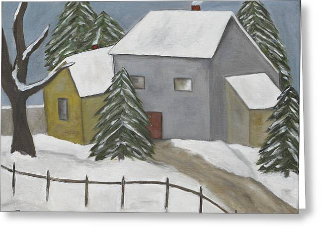 A Winter Day Greeting Card