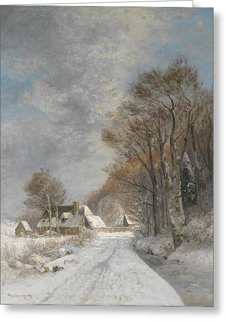 A Winter Landscape Greeting Card