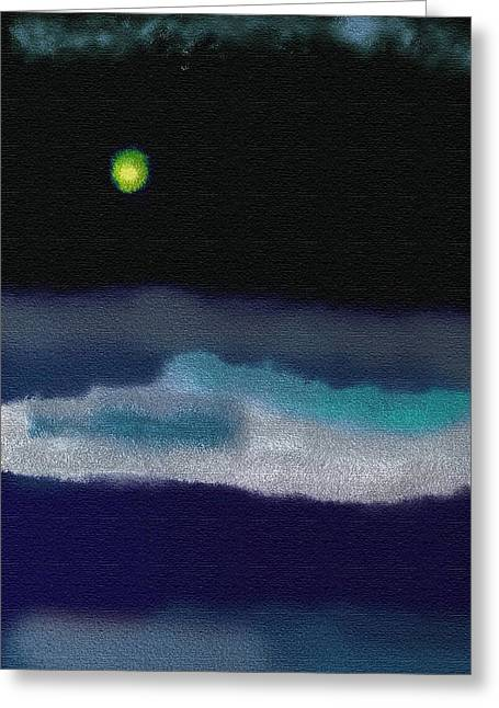 A Winter Night Greeting Card by Lenore Senior