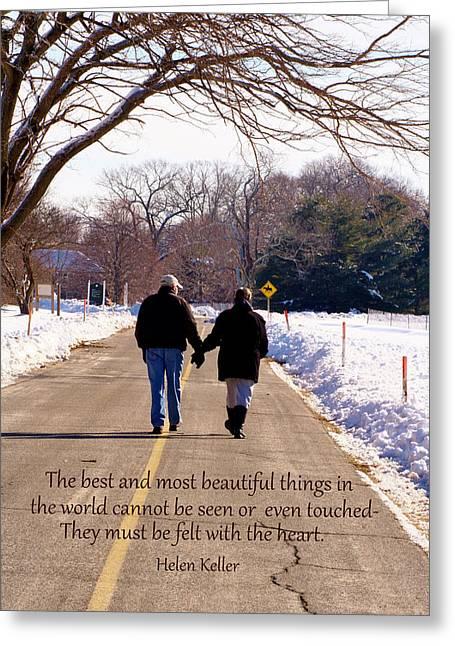 A Winter Walk/inspirational Greeting Card