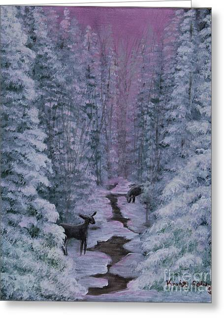A Winters Journey Greeting Card