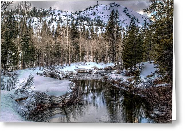 A Winters Peace Of Reflection Greeting Card