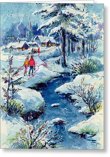 A Winters Scene Greeting Card by Stanley Cooke