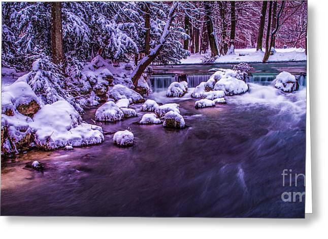 a winter's tale II - hdr Greeting Card by Hannes Cmarits