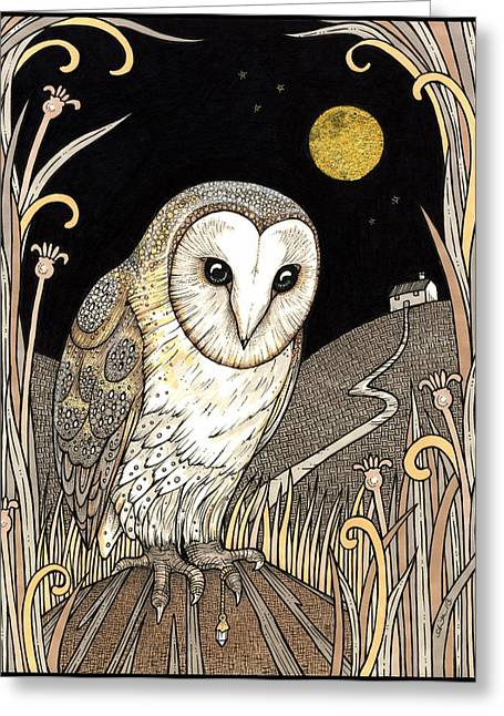 A Wise One Waits Greeting Card by Anita Inverarity