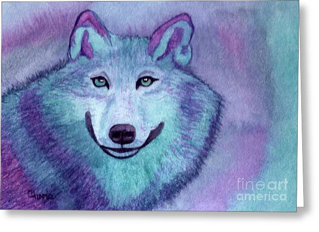 A Wolf Of A Different Color Greeting Card by Vikki Wicks